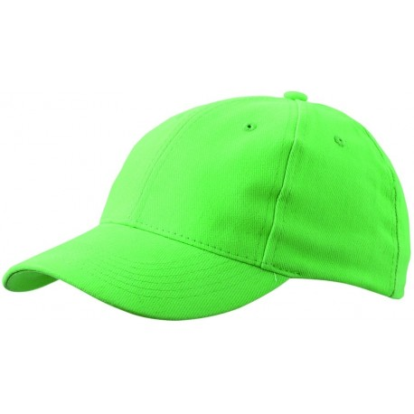 6 PANEL CAP CLOSE-FITTING MB018 čepice s kšiltem, citrusově zelená