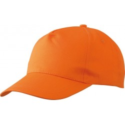 5 PANEL PROMO CAP LIGHTLY LAMINATED MB001 čepice s kšiltem, bílá
