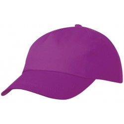 5 PANEL PROMO CAP LIGHTLY LAMINATED MB001 čepice s kšiltem, fialová