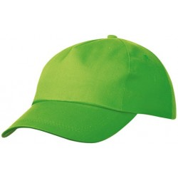 5 PANEL PROMO CAP LIGHTLY LAMINATED MB001 čepice s kšiltem, citrusová zelená