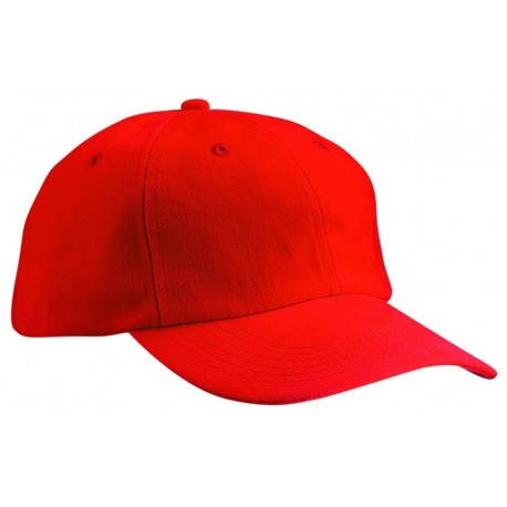 6 PANEL CAP CLOSE-FITTING MB018 čepice s kšiltem, červená