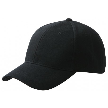 FRENCH TERRY CAP MB6519 čepice s kšiltem, black